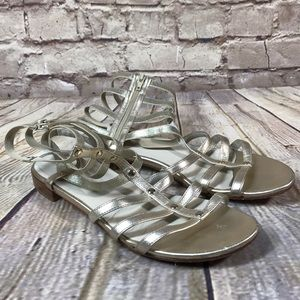 STUART WEITZMAN SHOES Sandals Strap GOLD Size 8